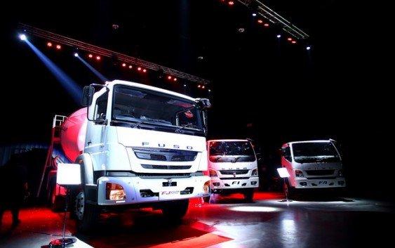 ฟูโซ่เปิดตัวผลิตภัณฑ์ใหม่ รถบรรทุกโม่ผสมปูน FJ2528