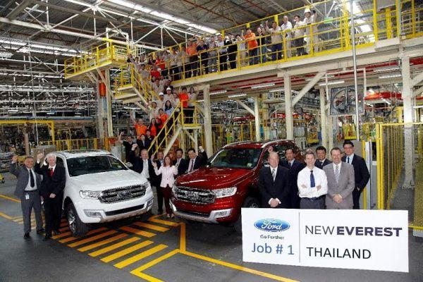 Ford เปิดสายการผลิต New Ford Everest อย่างเป็นทางการ