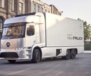 ชมภาพรถบรรทุกไฟฟ้าตัวต้นแบบ Mercedes-Benz Urban eTruck