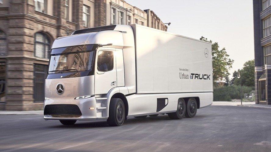 ชมภาพรถบรรทุกไฟฟ้าสุดล้ำ Mercedes-Benz Urban eTruck