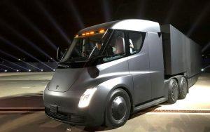 Tesla truck Semi run test