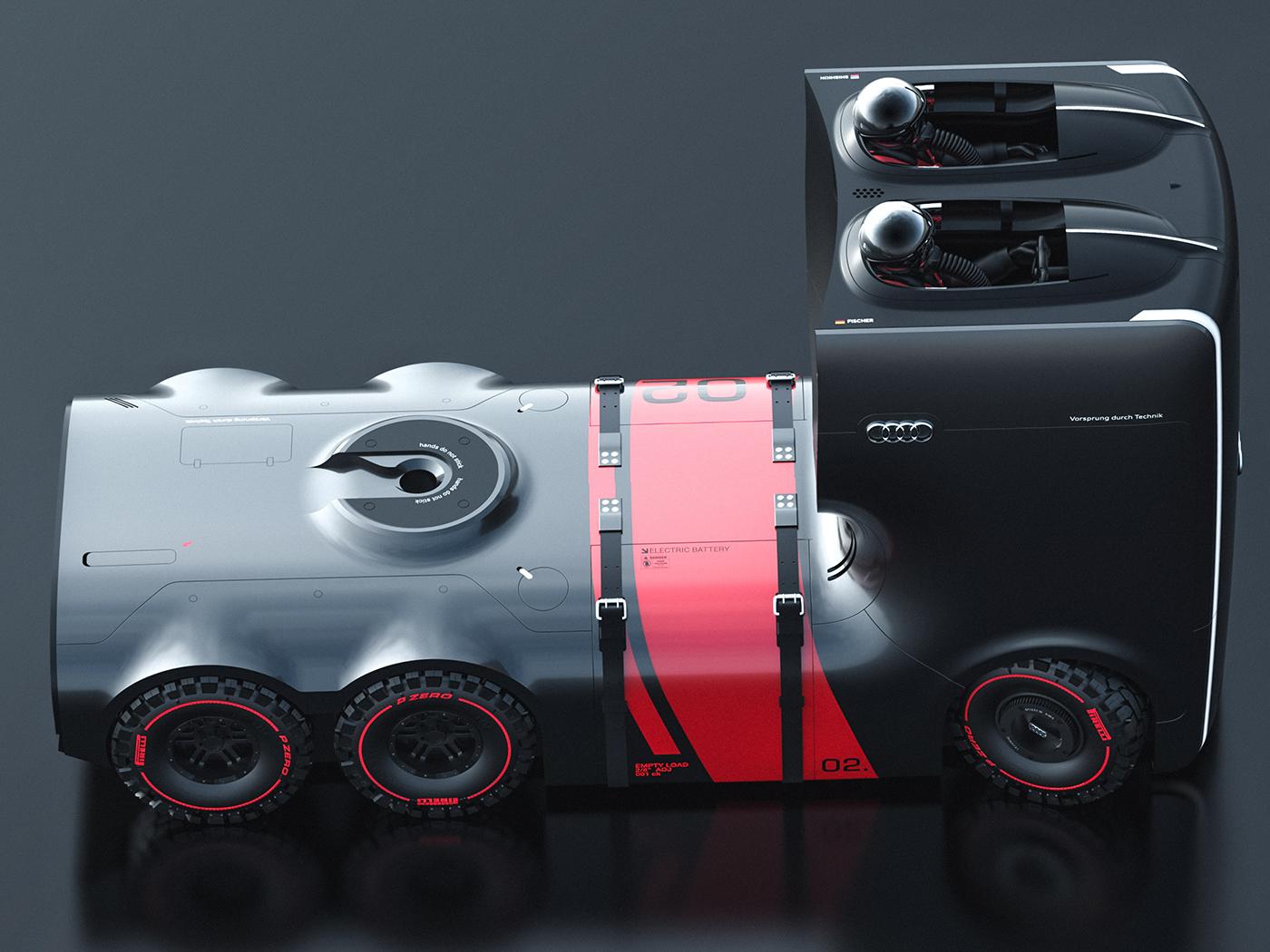 รถบรรทุกต้นแบบ Audi Truck Concept ห้องควบคุมที่ได้แรงบันดาลใจจากสตาวอร์