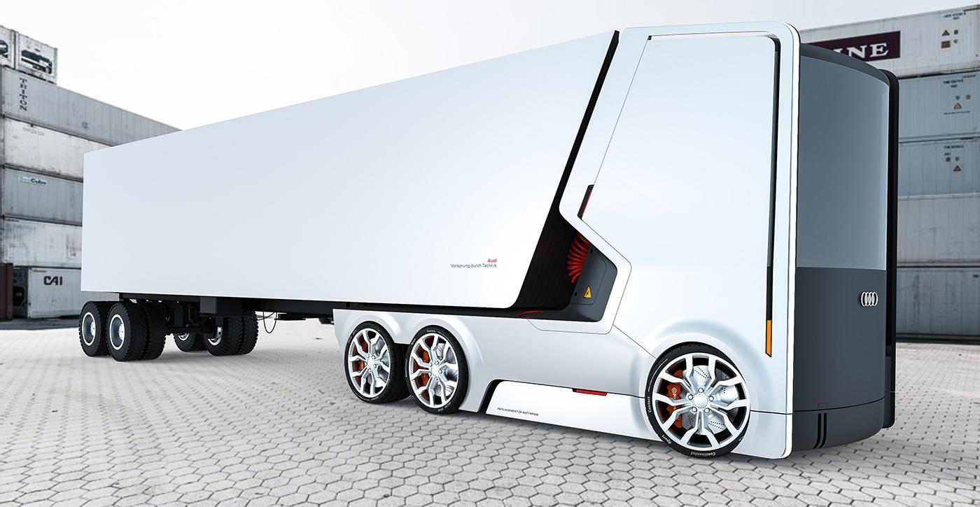 รถบรรทุกไฟฟ้าแห่งอนาคต ที่ได้แรงบันดาลใจจาก บริษัท แอปเปิ้ล