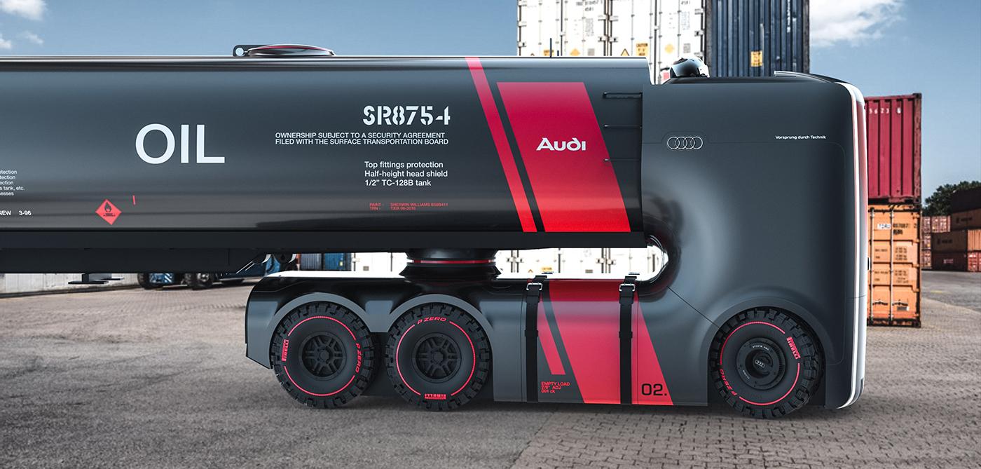 รถบรรทุกต้นแบบ Audi Truck Concept 8