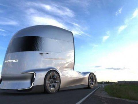 รถบรรทุกไฟฟ้า ต้นแบบ Ford F-Vision semi ขับเคลื่อนอันโนมัติ