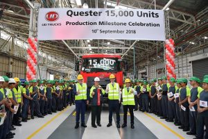 UD Truck ฉลองยอดผลิตรุ่น Quester ครบ 15,000 คัน