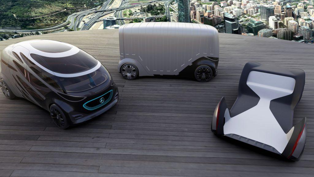 รถไฟฟ้าต้นแบบ Vision Urbanetic จาก Mercedes-Benz